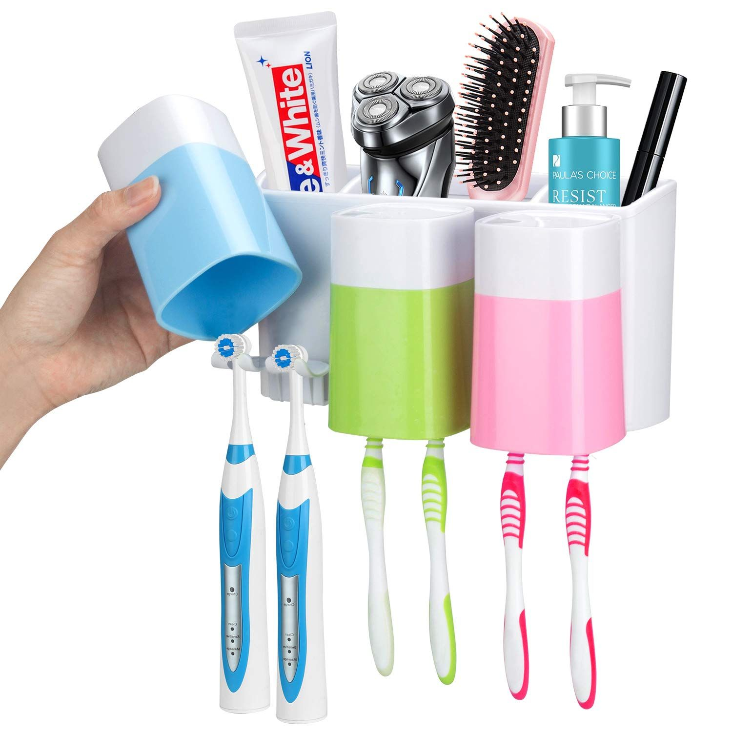 32 Organization Ideas For The Home Toothbrush Holder Wall Toothbrush Storage Electric Toothbrush Holder