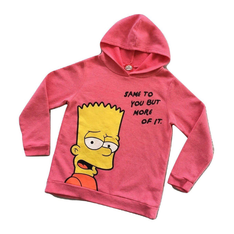 The Simpsons Bart Simpson Pink Pullover Hoodie Sweatshirt Etsy Sweatshirts Hoodie Hoodies Sweatshirts Women [ 1360 x 1360 Pixel ]