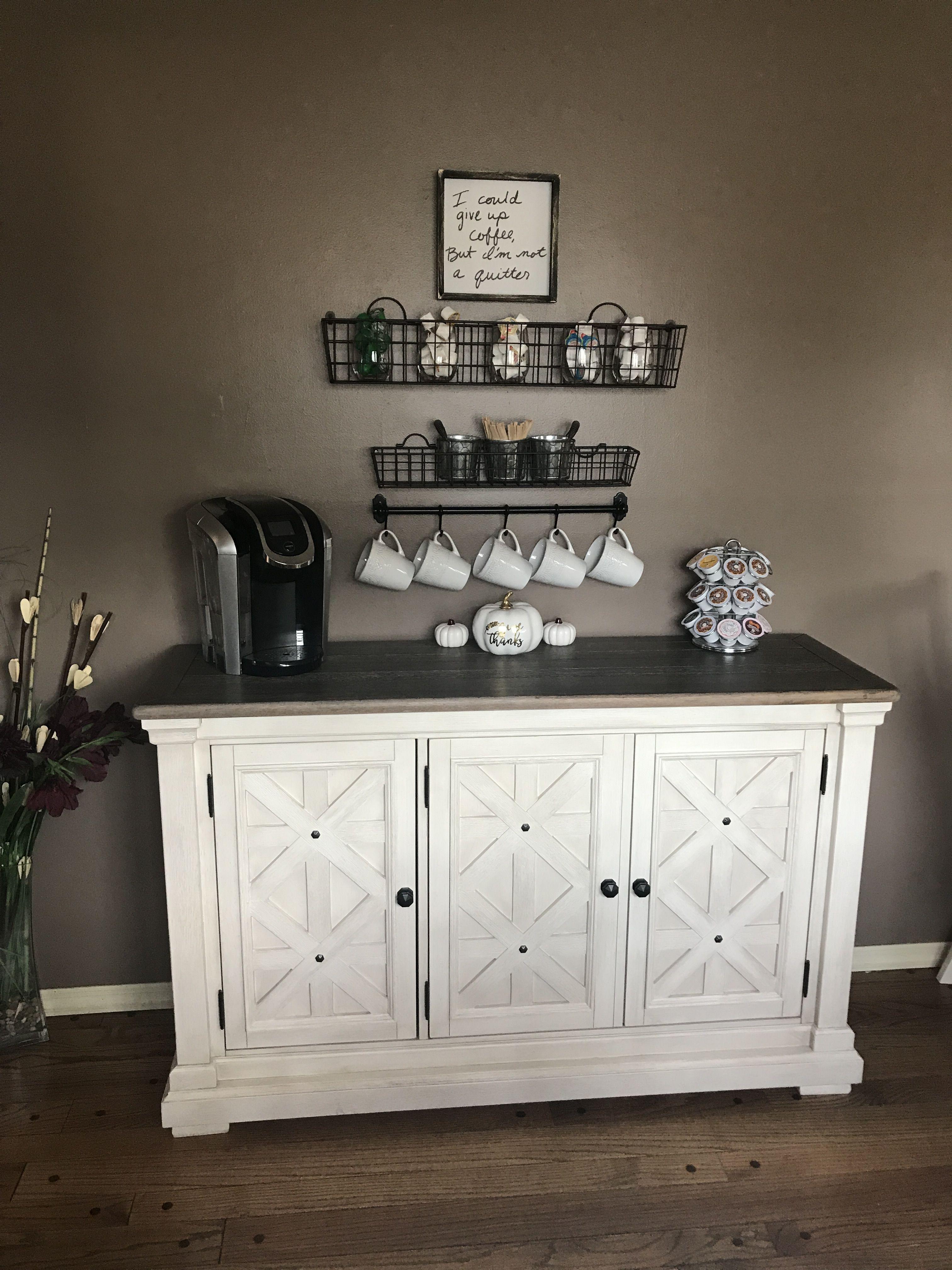 Dream Coffee Bar Farmhouse Home Inspiration Rustic Chic Rustic Glam Coffee Bar Home Home Office Furniture Rustic Dining Room