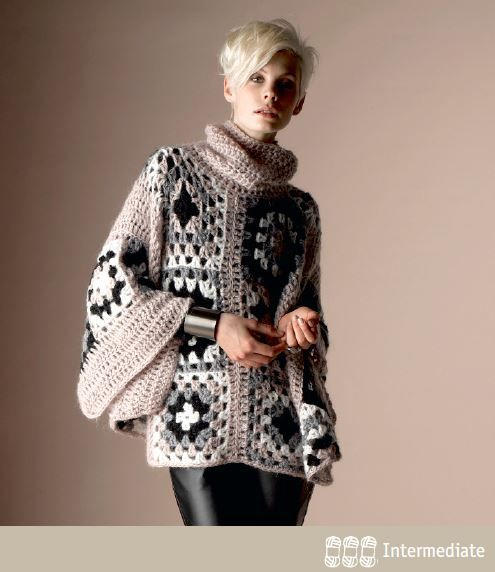 Little Treasures: 5 Free and Fabulous Crochet Poncho Patterns ...