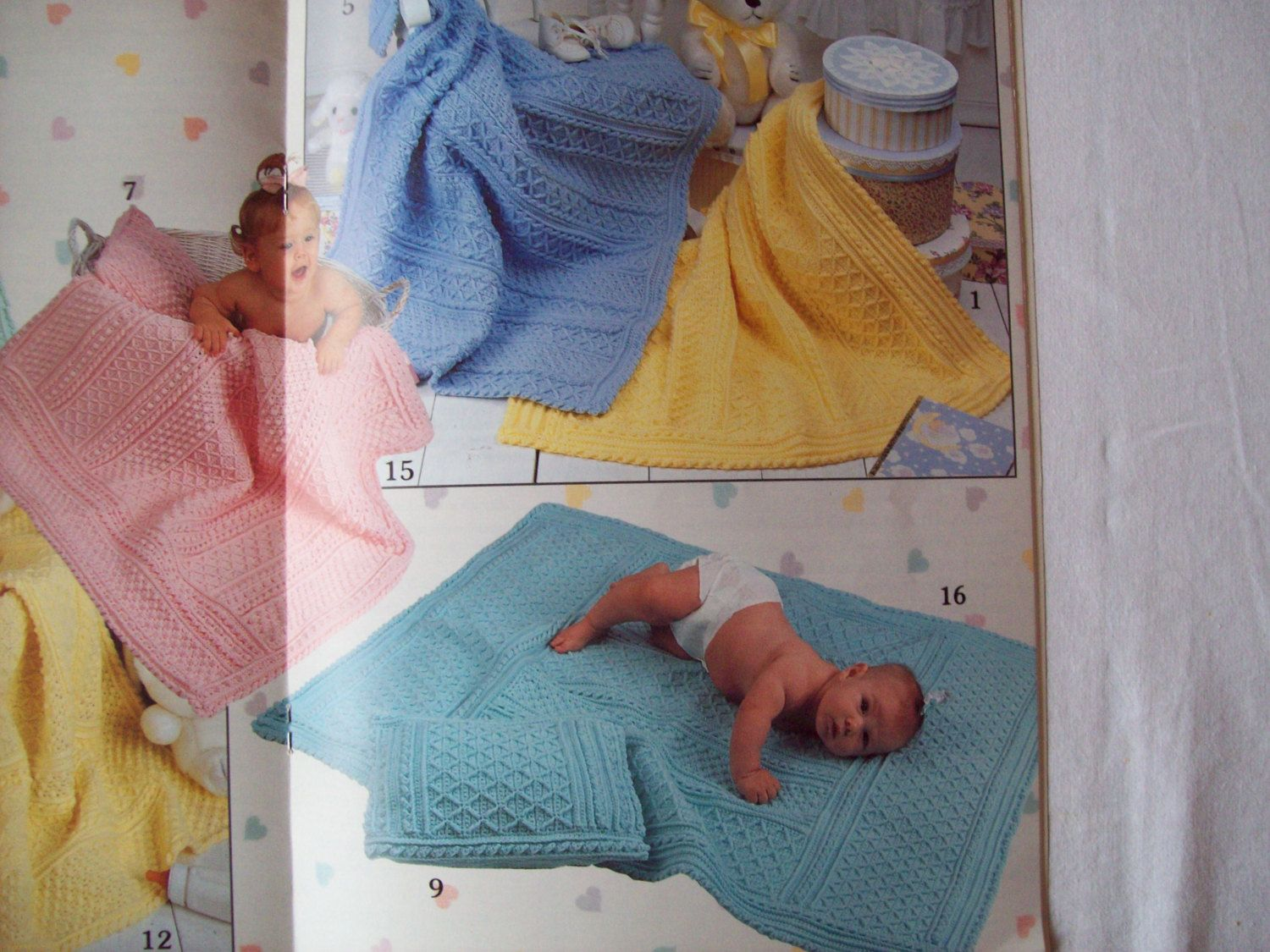Pastel Patterns For Baby Aran Crochet Baby by CozyHomeCrochet