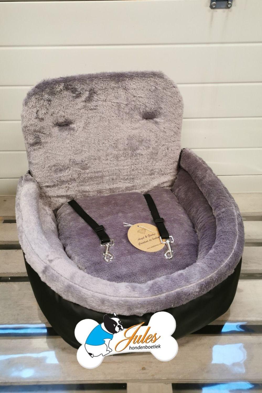 Autostoel Voor Honden Angel And Gladys Comfort Zwart Met Grijs Autostoel Honden Car Seat