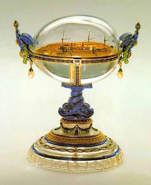 The standard yacht egg made in 1909 for tsar nicholas as an the standard yacht egg made in 1909 for tsar nicholas as an easter gift to his wife czarina alexandra fyodovna one of the few eggs that has never left negle Gallery