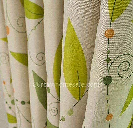 Leaf-in-lime-green-curtains-of-Camel-Color-Fabrci-for-Blackout ...