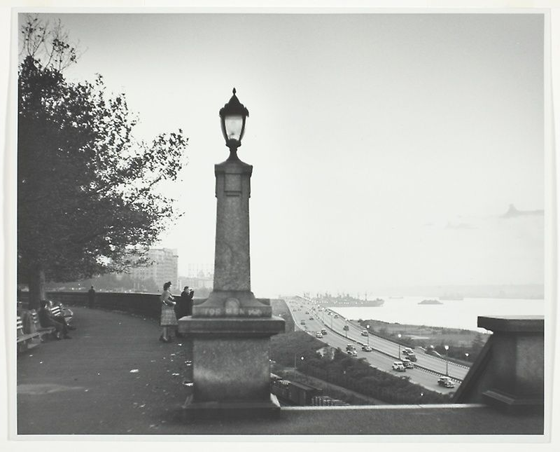 André Kertesz, 1929-1932, Riverside Drive, New York, 1944, printed 1970s Gelatin silver print 19.8 x 24.7 cm Gift of Mr. and Mrs. Noel Levine, 1983.949 Art Institute, Chicago