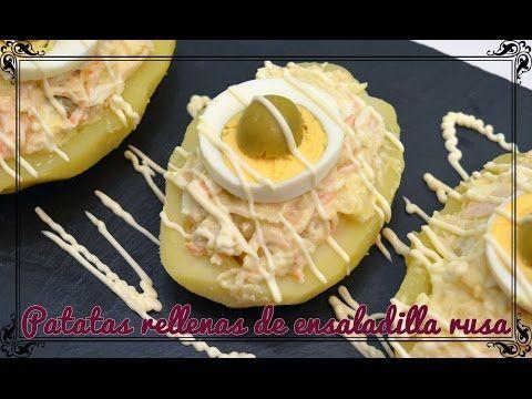 Patatas rellenas de ensaladilla rusa - Cocina familiar