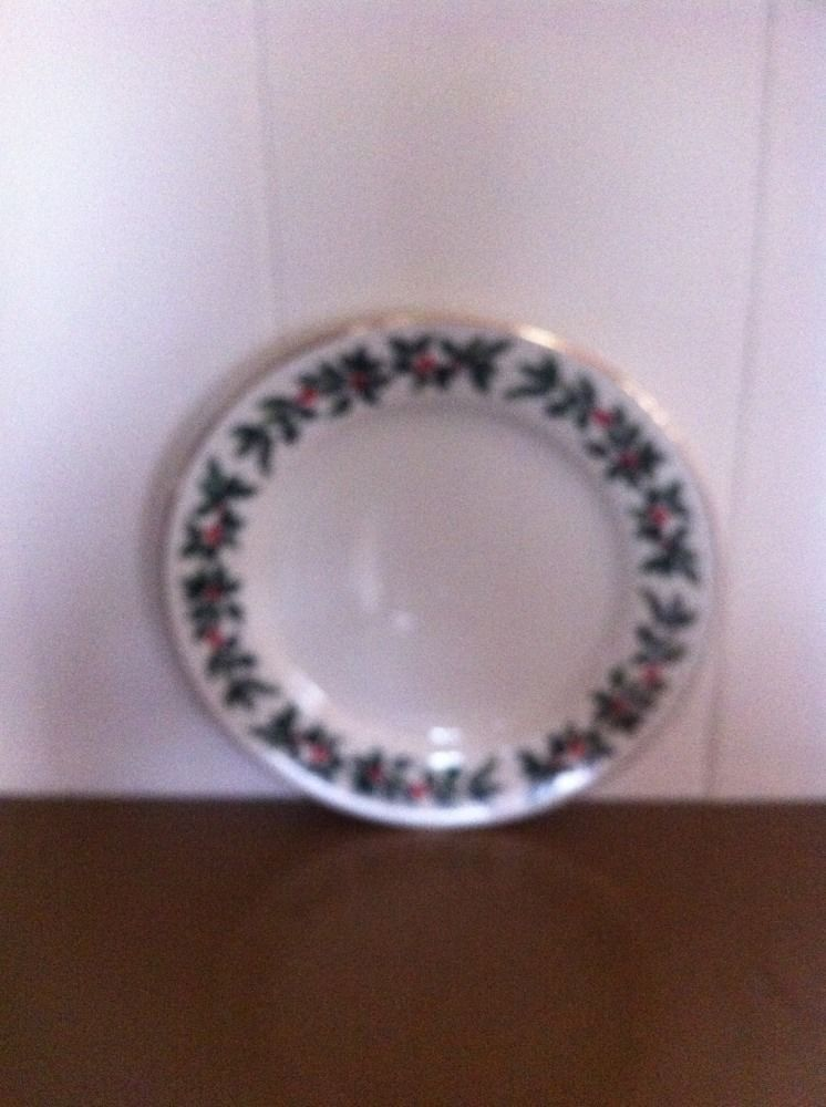 FORMALITIES BY BAUM BROS CHRISTMAS HOLLY COLLECTION SET OF 5 Salad Plates & FORMALITIES BY BAUM BROS CHRISTMAS HOLLY COLLECTION SET OF 5 Salad ...