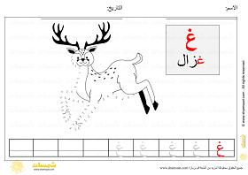 توصيل النقاط حرف الغين Match Numbers مع كتابة الحروف للاطفال الصغار In 2021 Moose Art Animals Art