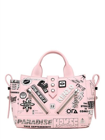 bd2ff41d0b2 KENZO Mini Kalifornia Atomic Patches Bag, Light Pink. #kenzo #bags #leather  #hand bags #