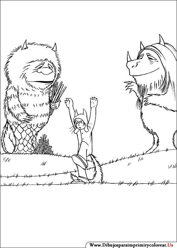 Dibujos de Donde viven los monstruos para Imprimir y Colorear ...