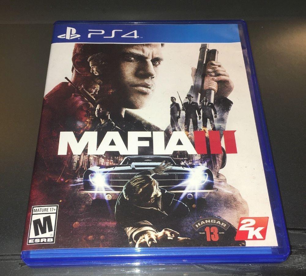 Mafia Iii 3 Sony Playstation 4 2016 Ps4 Mint Disc W Booklet