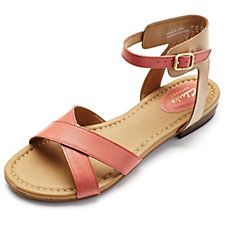 Clarks Viveca Zeal Leather Strappy Sandal Wide Fit QVC
