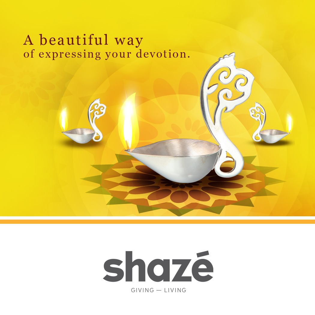 Faith and devotion add meaning to our lives and give depth to our souls. This elegant Diya with its divine silver aura helps you express your devotion in a beautiful way.    View Our Pooja Collection at www.shaze.in