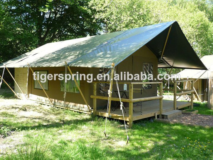Spacious comfortable large canvas outdoor gl&ing tent & Spacious comfortable large canvas outdoor glamping tent | Glamping ...