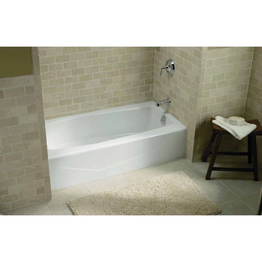 Superb KOHLER Villager 5 Ft. Cast Iron Right Hand Drain Rectangular Alcove  Non Whirlpool Bathtub In White