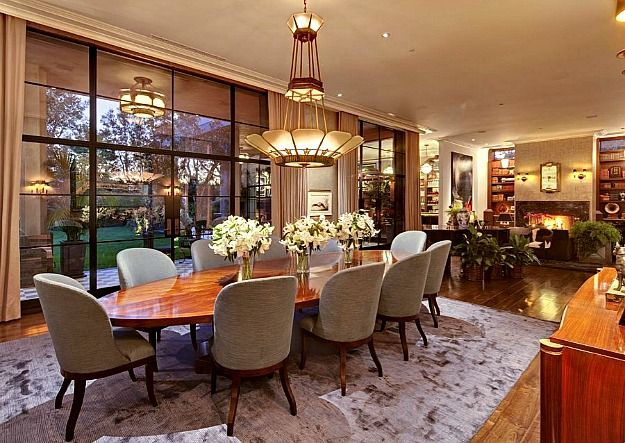 Jeremy Renner's Art Decostyle House In La  Art Deco Style Art Stunning Mansion Dining Rooms Inspiration