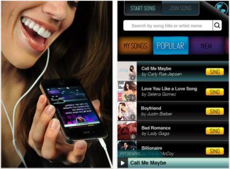 Karaeoke app for the iphone. Daily iPhone App Sing