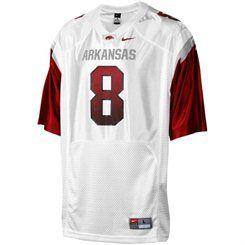 pretty nice 6d4b3 410fa Nike Arkansas Razorbacks Youth #8 Replica Football Jersey ...