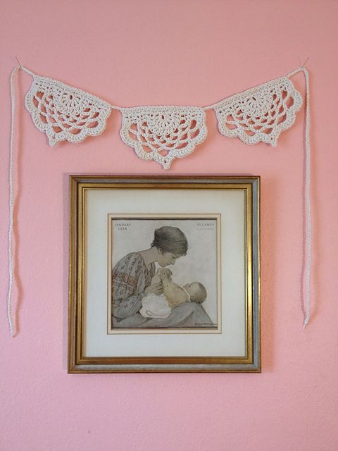 Half Lotus Bunting, free pattern by Annie Soutter | crochet ...