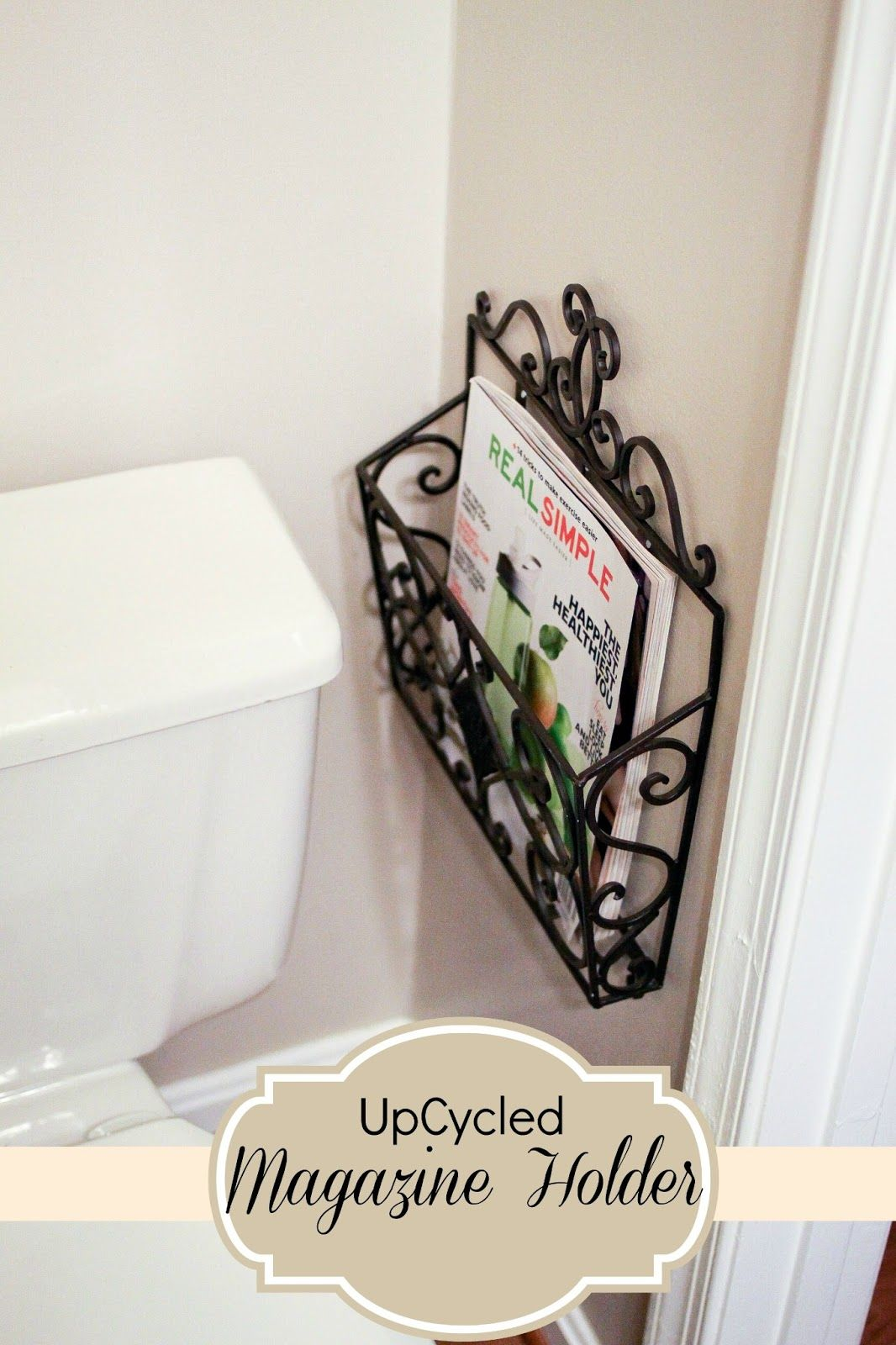 Mail Carrier Turned Magazine Holder Perfect For Small Powder Rooms And Little Floor E