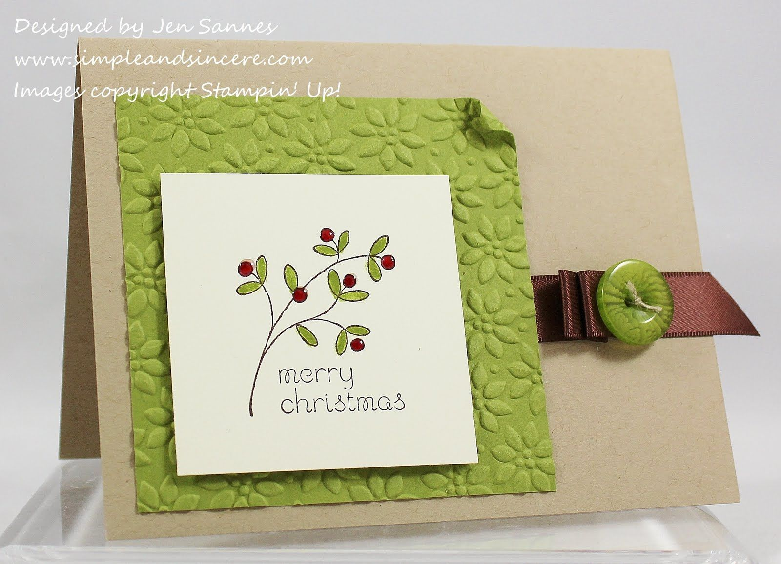 Simple u sincere easy events merry christmas stampin up cards