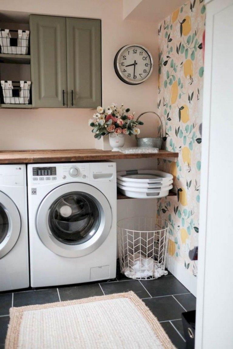 Photo of 40 außergewöhnliche Waschküche-Deko-Ideen für kleine Räume