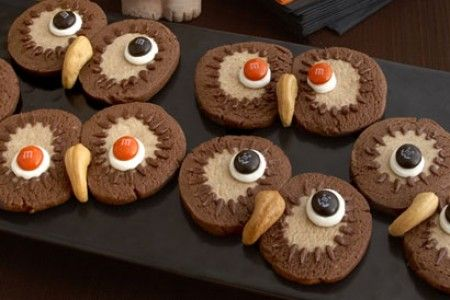 Easy Owl Cookies to Make for Halloween or for Kids