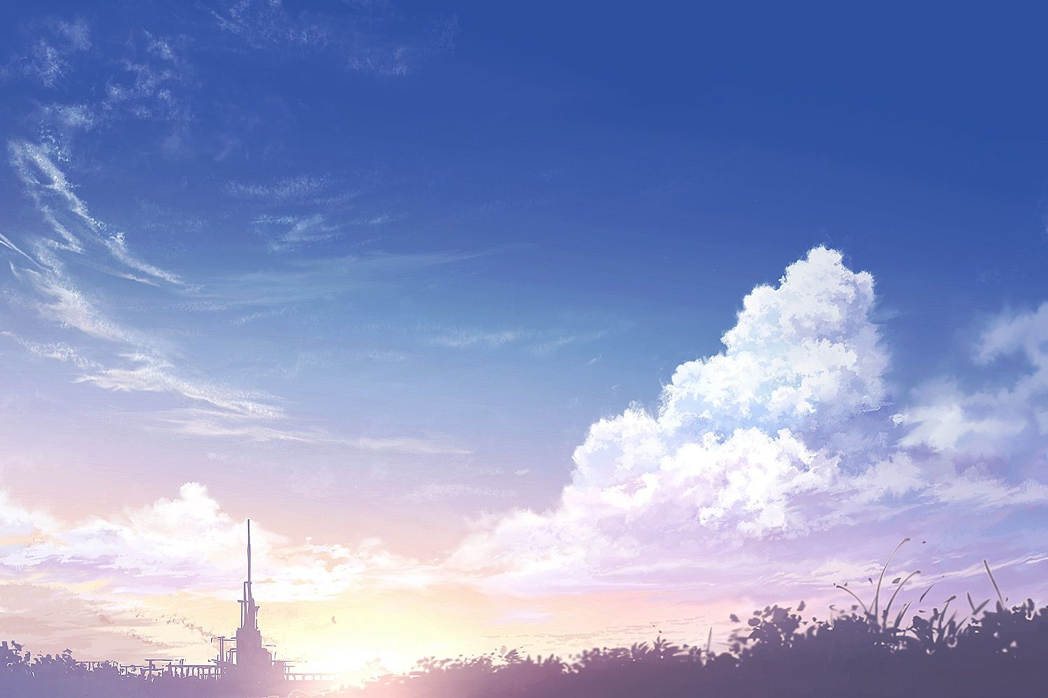 Anime background Anime scenery, Anime background, Clouds