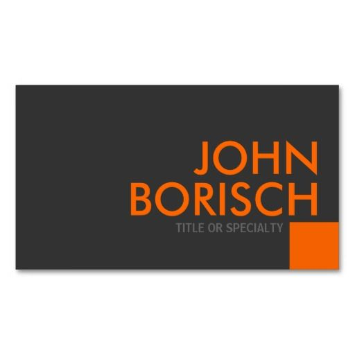 Professional Grey Orange Business Profile Card Business Card