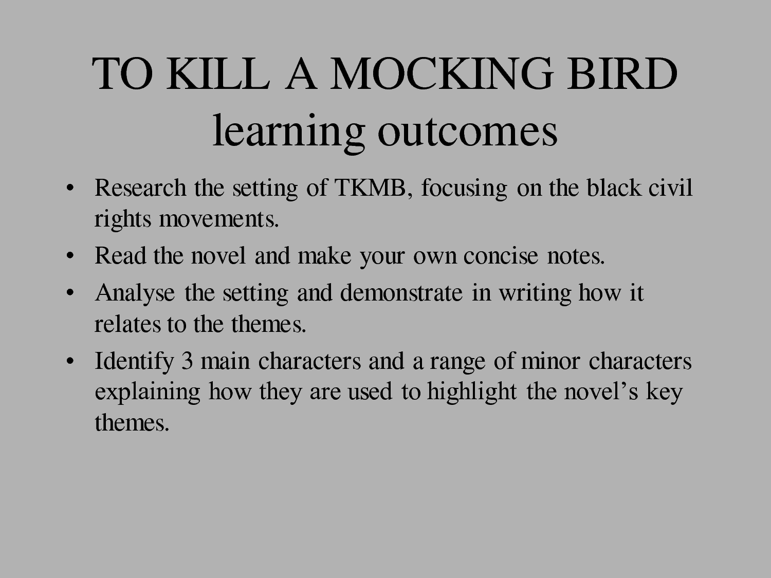 possible thesis statements for to kill a mockingbird A thesis is a statement that tells the reader what direction an essay will take often — maybe even usually— there are supporting facts from the book mentioned briefly that will later be explored in the essay my favorite theme for to kill a mockingbird is the fact that atticus finch was.