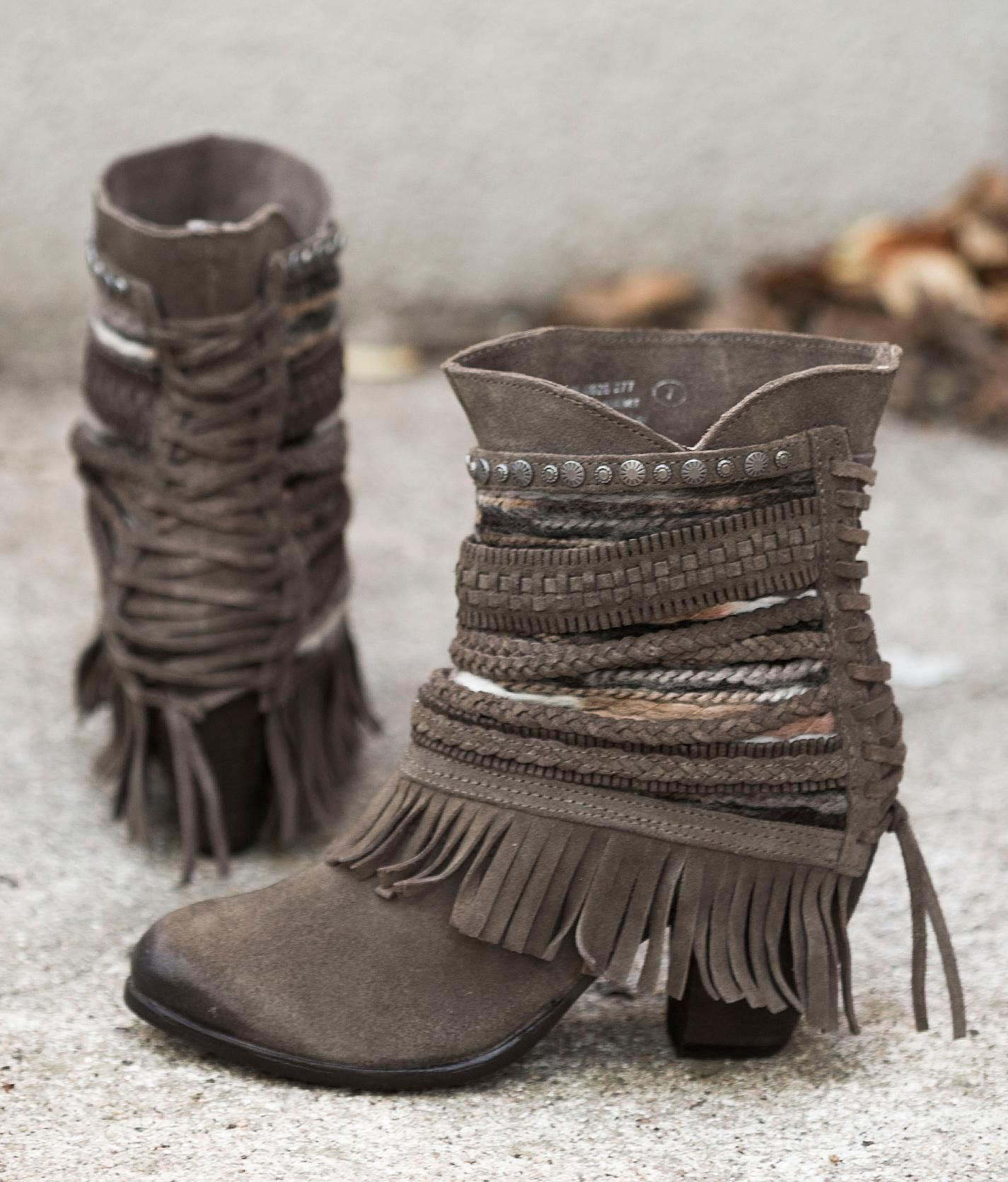 Naughty Monkey Poncho Boot - Women's Shoes in Taupe