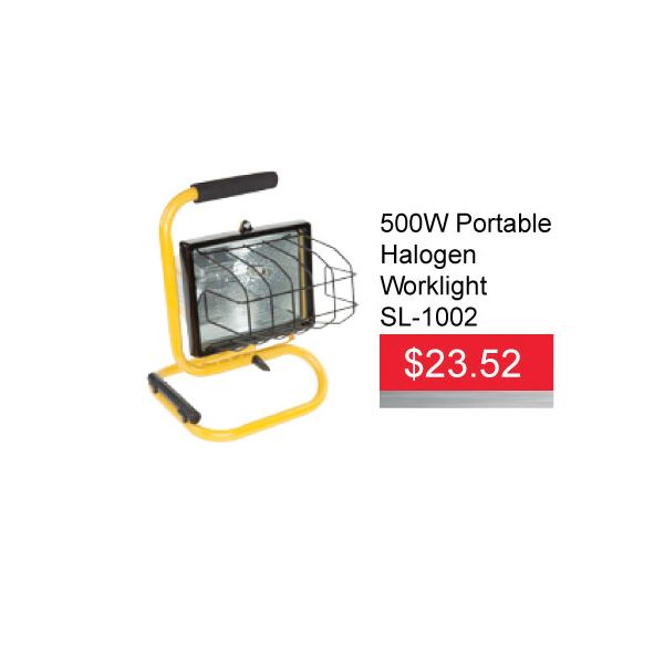 Get a 500w Halogen Single Fixture Work Light for only $23.52​ EA until March 31,2016. The 1002 Series Halogen Work Light is perfect when portability in a small area is important. This single fixture light cranks out an impressive 500 watts of light from a single halogen bulb.   #​500W #Portable #Halogen #Worklight #AADiscount #WorkLigh…