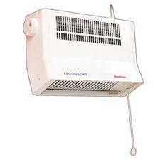 consort wall mounted fan heater