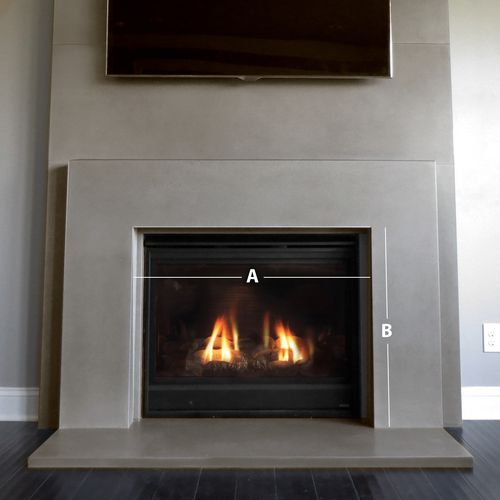 This Is A Contemporary Gas Fireplace Surround Cast In Concrete By Trueform