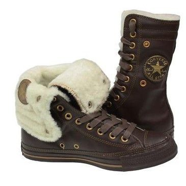 Unisex Converse Chuck Taylor Leather Fur Boots