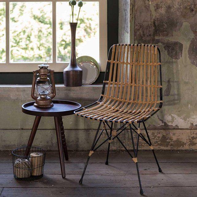 Chaise Lounge Mtal Et Rotin Kubu DRAWER