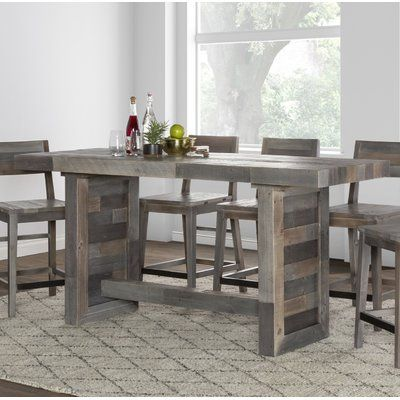 Mistana Abbey Counter Height Solid Wood Dining Table Dining Table In Kitchen Counter Height Dining Table Counter Height Dining Sets