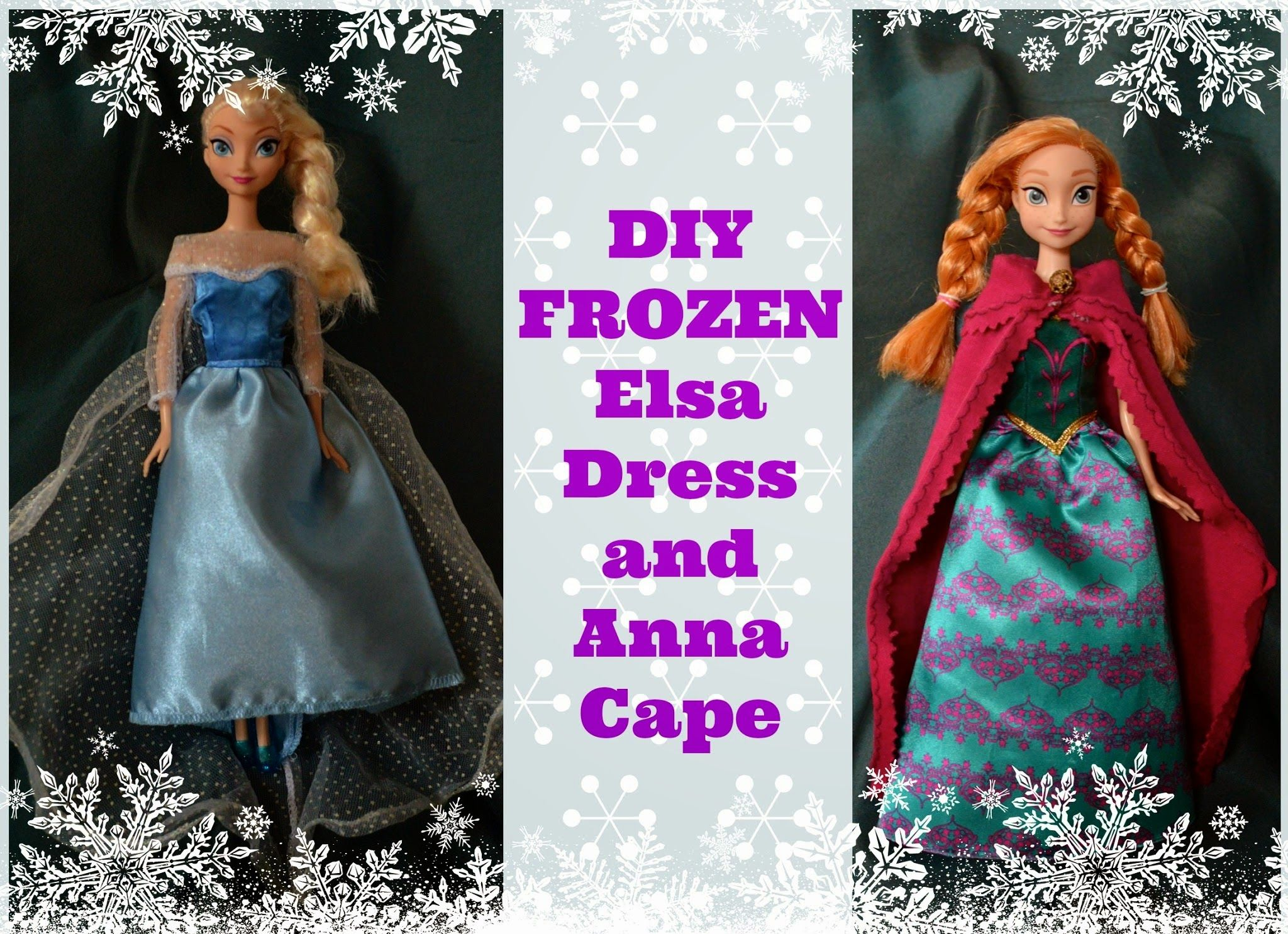 Uncategorized How To Make Barbie Doll how to make simple frozen doll clothes elsas sparkly dress and annas cape for