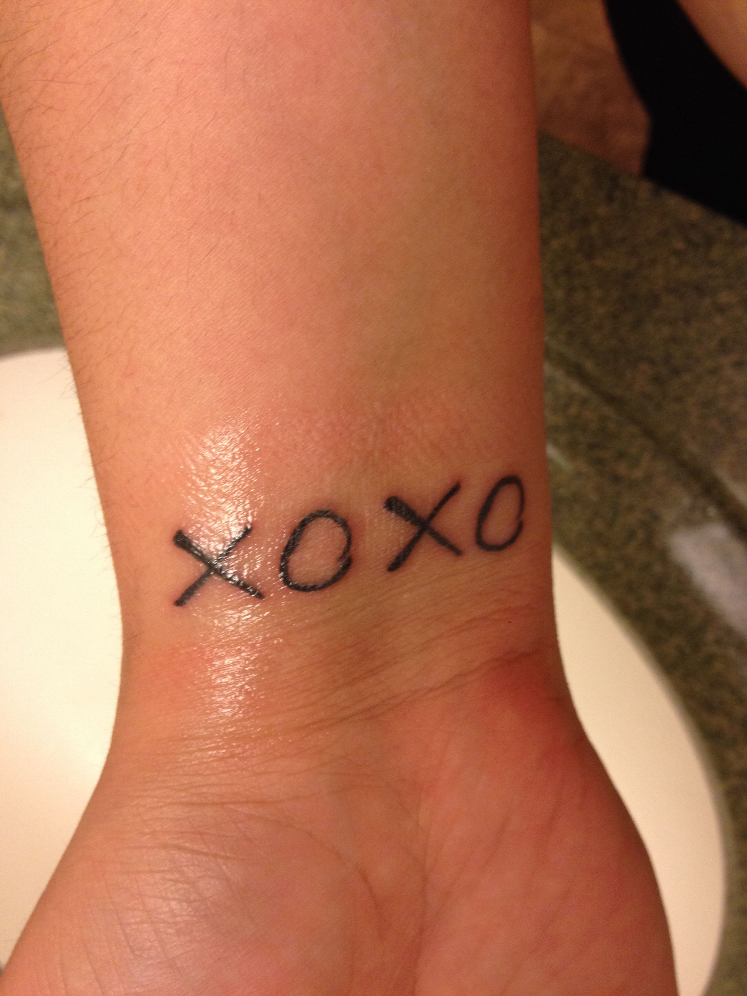 Xoxo Tattoo Tattoos Wrist Tattoos Tattoos And Piercings