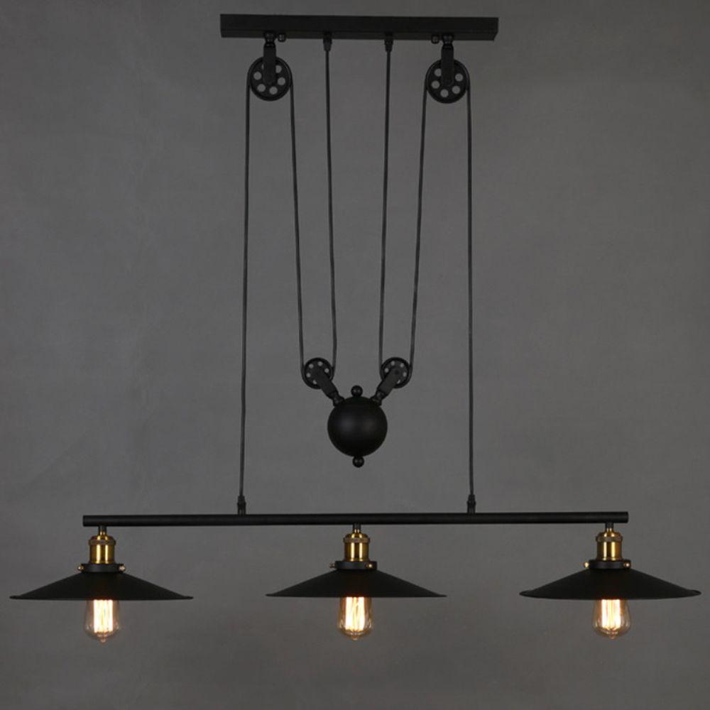 American vintage pulley pendant lights lightings lampada led lamp