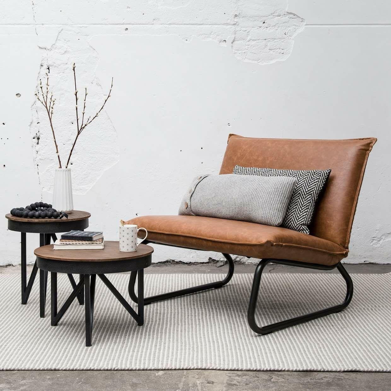 Lounge stoel cognac home huis interieur stoel cognac for Stoel woonkamer