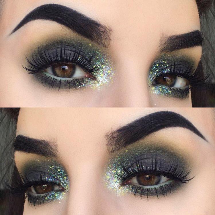 Cute Dark And Glittery Eye Make Up Wedding Eye Makeup Rave Makeup Dramatic Eye Makeup