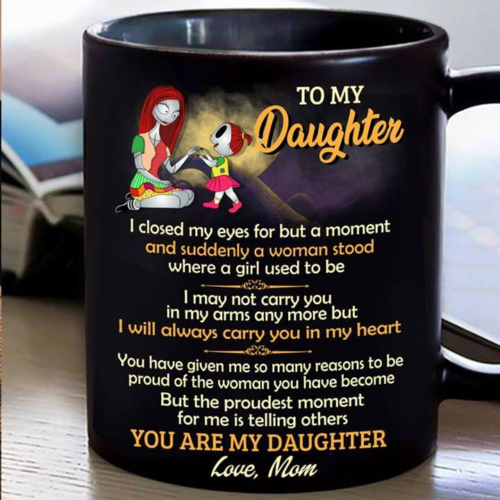 Sally To My Daughter Mug Black Ceramic 11oz Coffee Tea Cup Gift Made In Usa Ebay Tea Cup Gifts Cup Gifts Funny Coffee Gifts