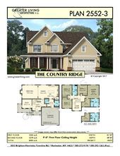 Plan 25523 THE COUNTRY RIDGE Two Story House Plan  Greater Living Architectu Plan 25523 THE COUNTRY RIDGE Two Story House Plan  Greater Living Architectu
