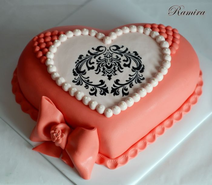 Gorgeous Heart Cake Cakes Pinterest Heart Birthday