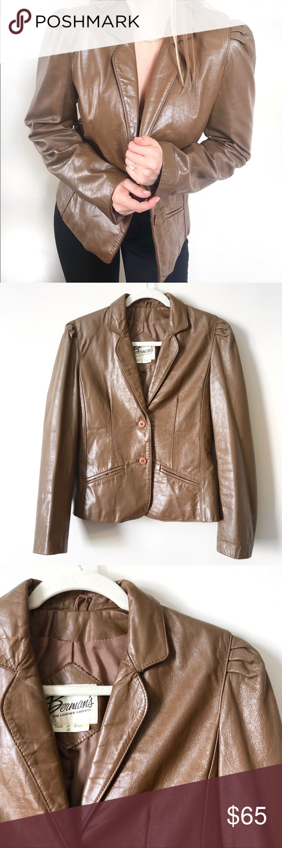 Vintage 80s Genuine 100 Leather Jacket Leather Jacket Vintage Jacket Vintage Leather Jacket