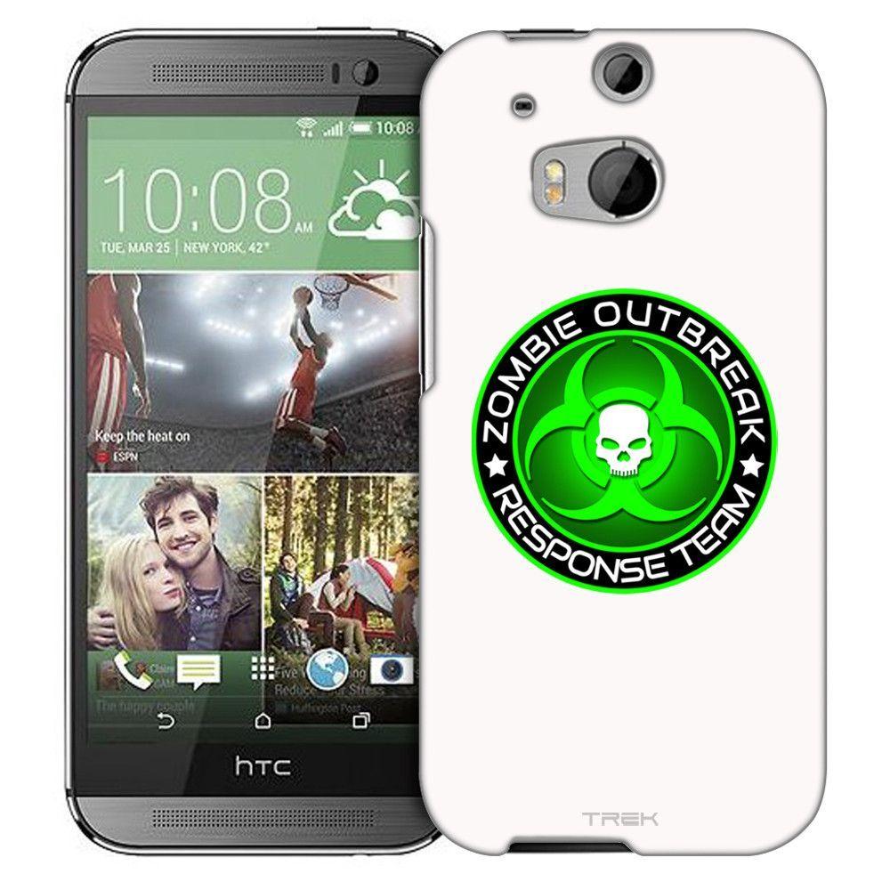 HTC One M8 Zombie OutBreak Response Team Green on White Slim Case