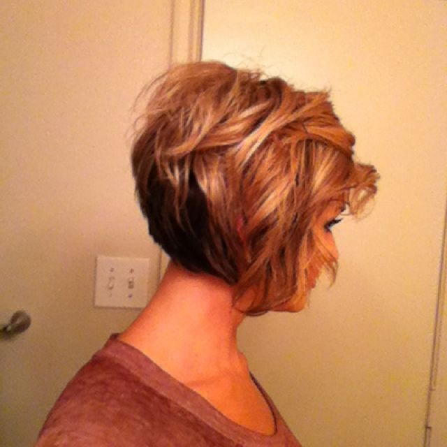great side profile of this cut.  Nice color and style idea.