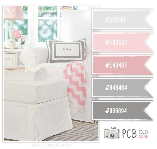 Color Crush 4 14 2013 Soft Baby Pink Amp Gray Color Scheme