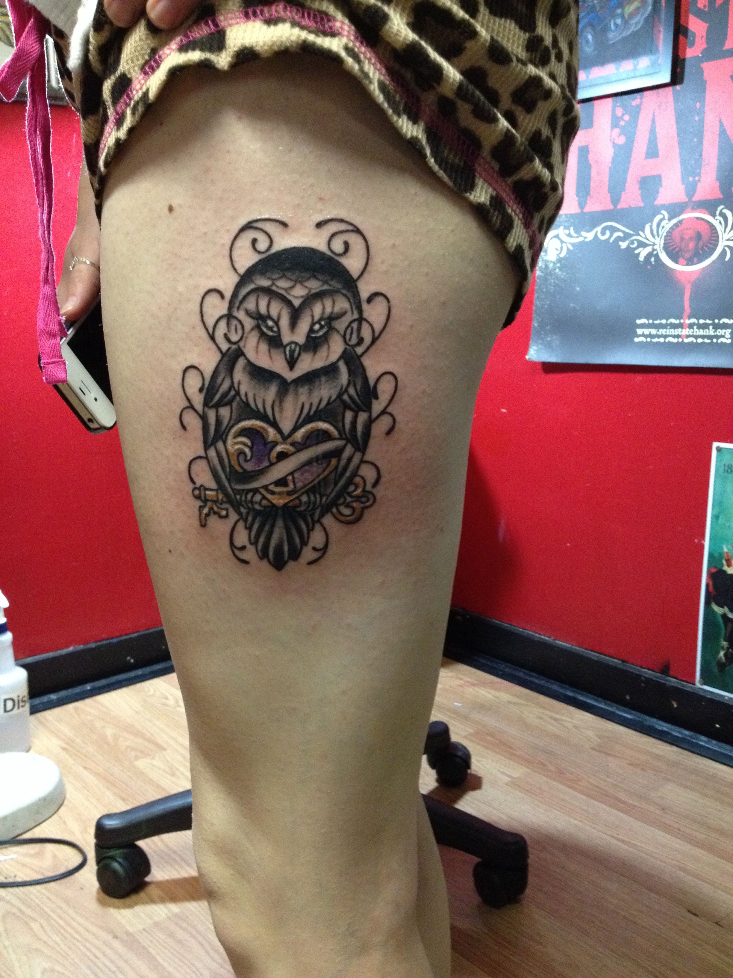 My best friend's owl tattoo<3